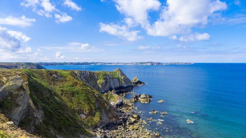 Ile de Crozon Франция ` Presqu стоковые фото