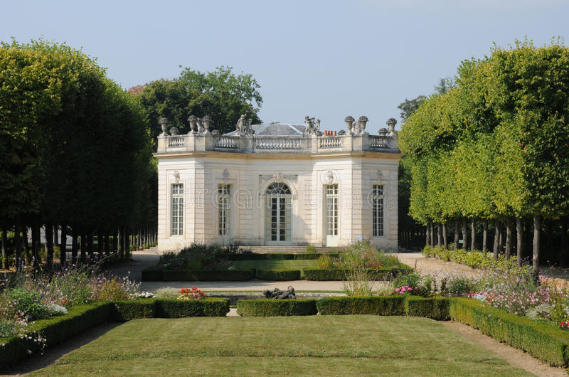 Ile de France, der französische Pavillon in Marie Antoinette-Zustand stockfoto