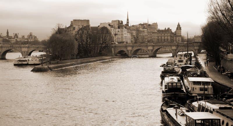 Ile de la Cité Paris stockbilder