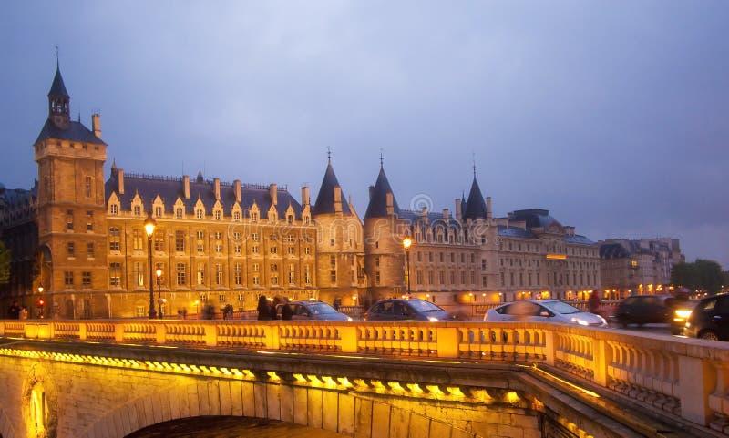 Ile de la Cite. Conciergerie em Ile de la Cite, Paris, França stock image