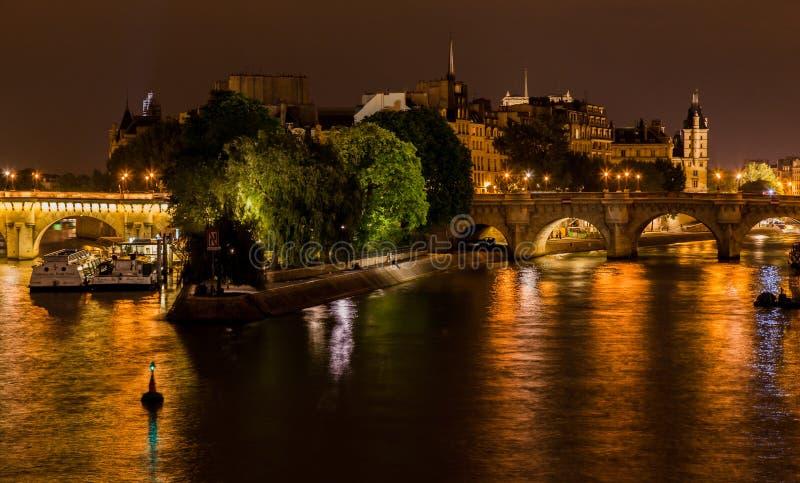 Ile DE La Cite Parijs Frankrijk stock afbeelding