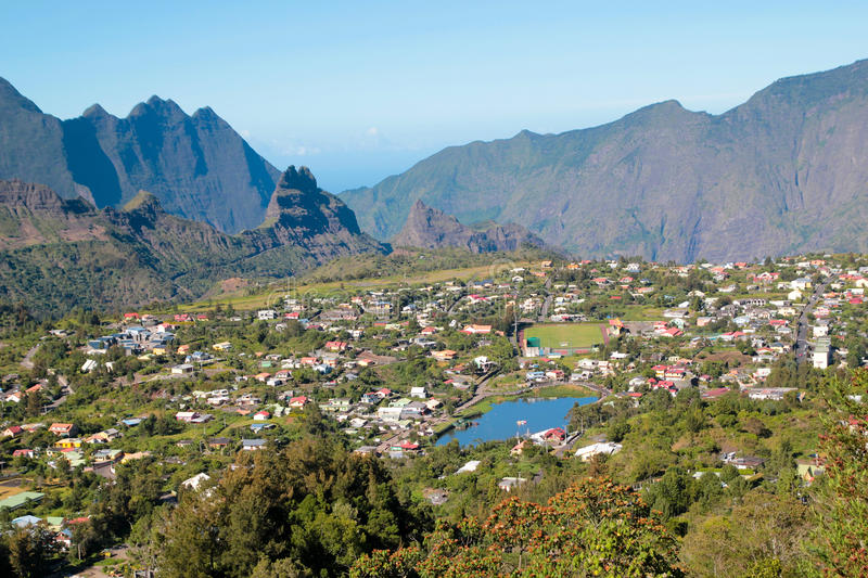 Download Ile de La Reunion stock photo. Image of cilaos, houses - 20867072