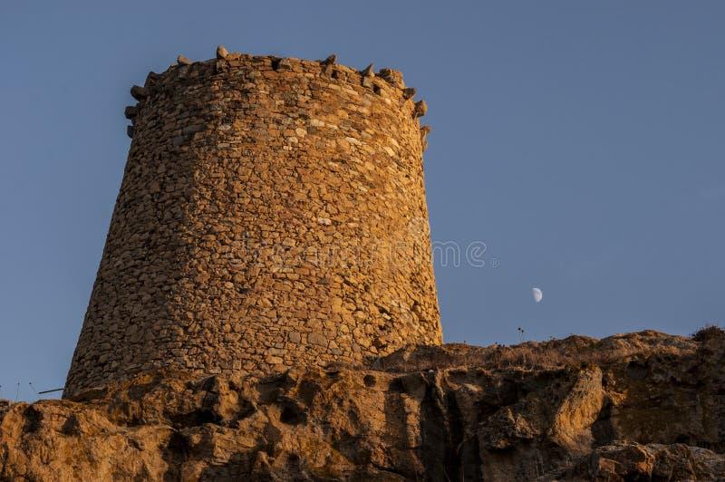 Ile De Los angeles Pietra, Kamienna wyspa, Ile-Rousse, Czerwona wyspa, Corsica, Górny Corsica, Francja, Europa, wyspa obraz royalty free