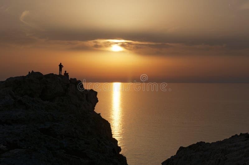Ile De Los angeles Pietra, Kamienna wyspa, Ile-Rousse, Czerwona wyspa, Corsica, Górny Corsica, Francja, Europa, wyspa zdjęcia royalty free