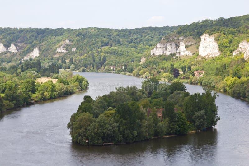Ile du Chateu - Le Petit Andely imagenes de archivo