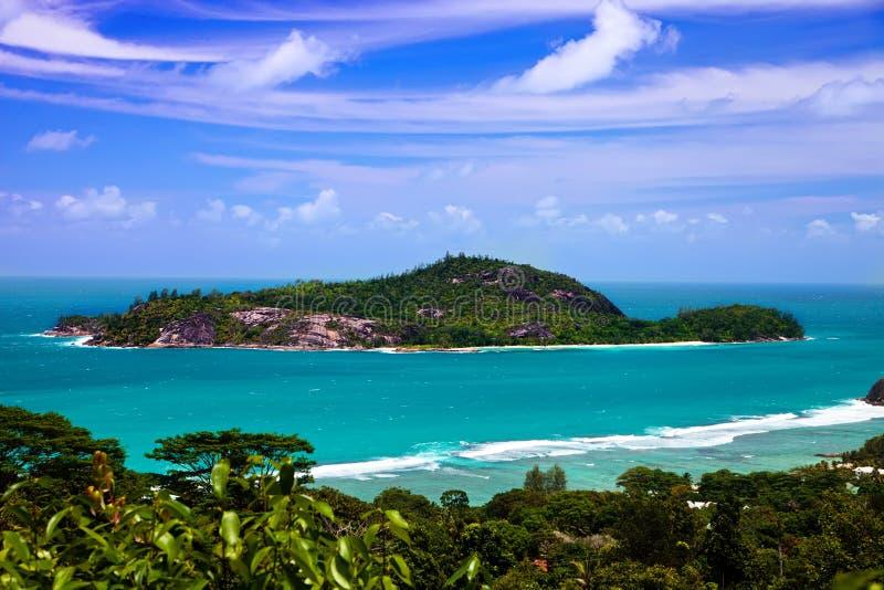 Ile Teresa, Seychelles imagenes de archivo