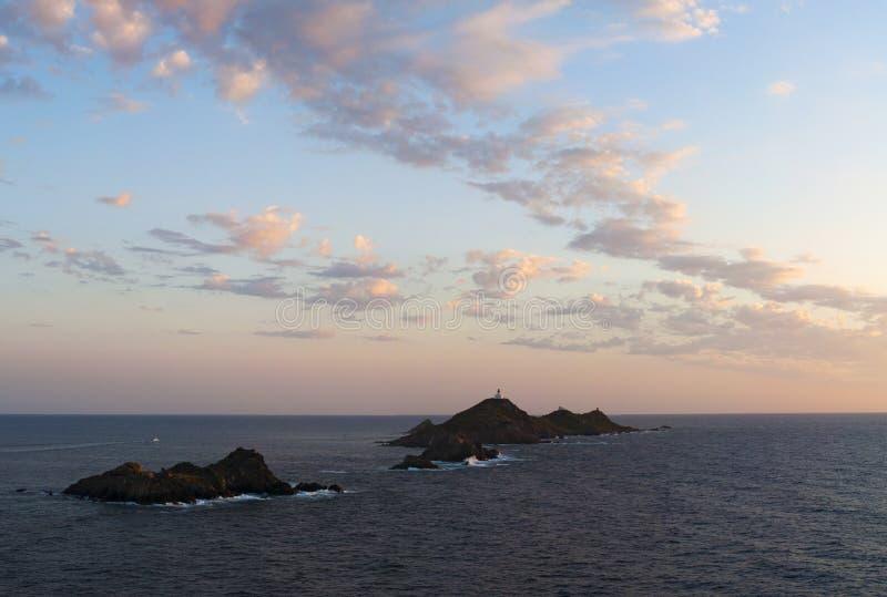 Iles Sanguinaires, golfo de Ajacio, Córcega, Corse, Francia, Europa, isla imagen de archivo