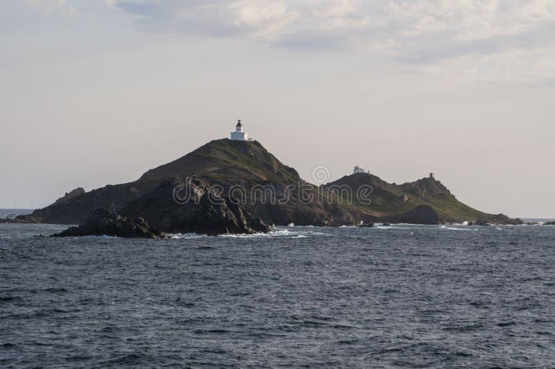 Iles Sanguinaires, golfo de Ajacio, Córcega, Corse, Francia, Europa, isla imagen de archivo libre de regalías