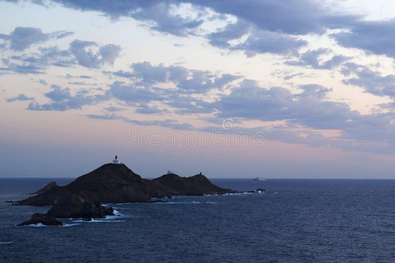 Iles Sanguinaires, golfo de Ajacio, Córcega, Corse, Francia, Europa, isla imagenes de archivo