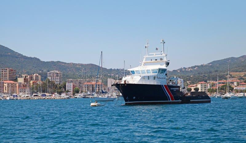 Iles Sanguinaires II, buque de carga general foto de archivo