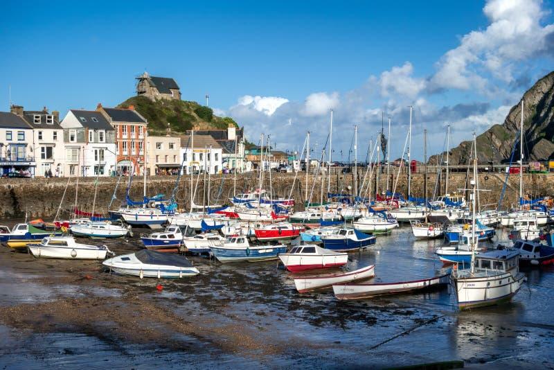 ILFRACOMBE, DEVON/UK - 19 OTTOBRE: Vista del porto o di Ilfracombe immagini stock
