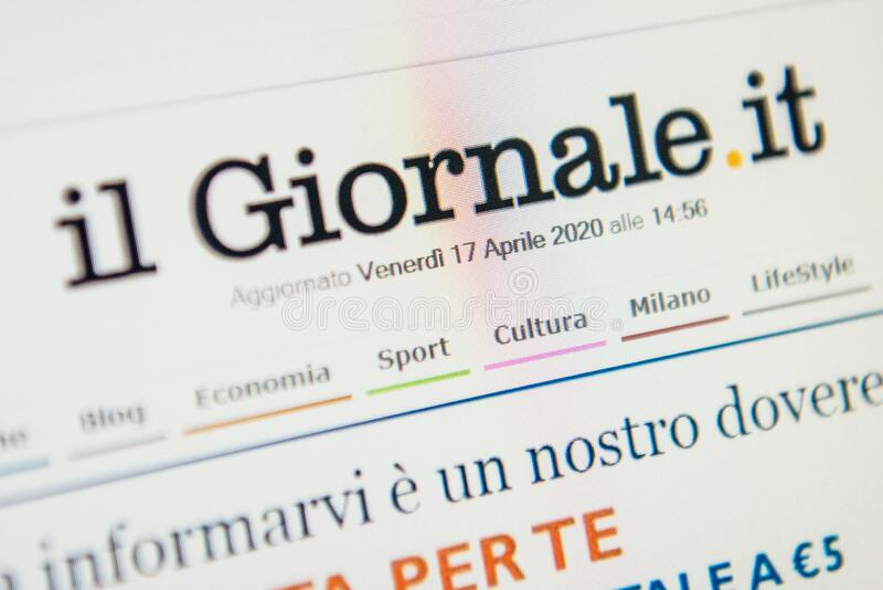 Ilgiornale site Web de it Focalisation sélective photo stock