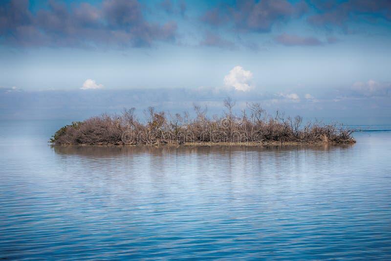 Ilha abandonada, desolada foto de stock