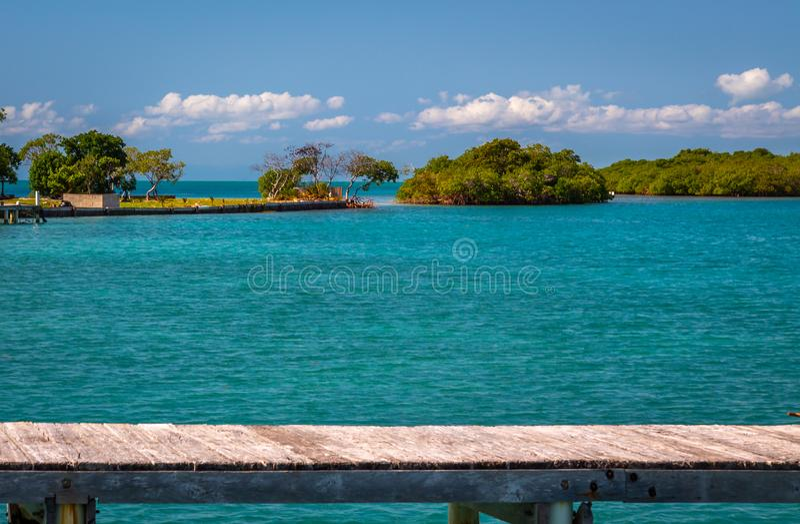 Ilha Belize fotografia de stock