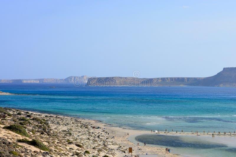 A ilha bonita da Creta, praia de Balos imagens de stock royalty free