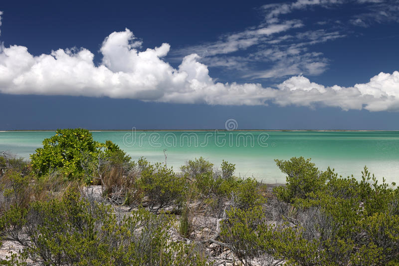 Ilha calma na lagoa da água de turquesa fotografia de stock royalty free