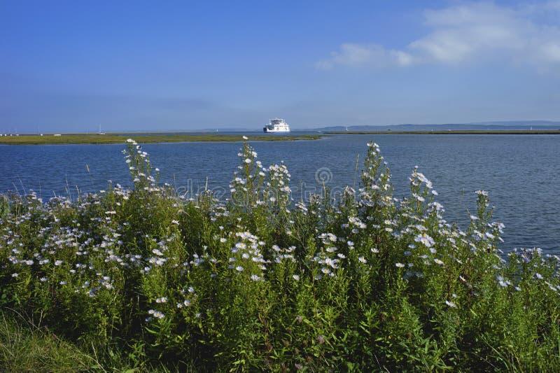 Ilha da balsa do wight fotografia de stock