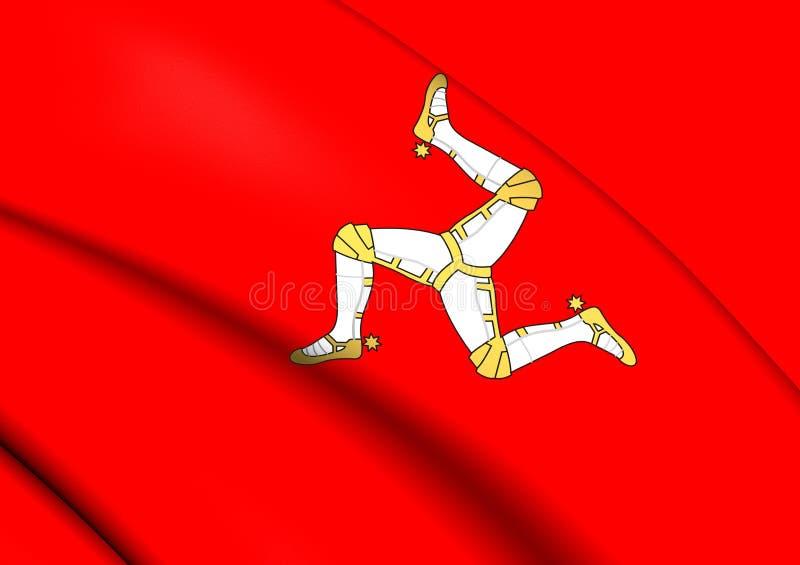 Ilha da bandeira do homem ilustração royalty free