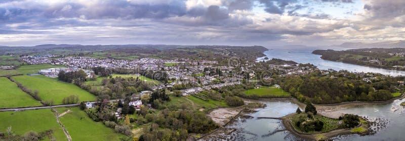 Ilha da igreja em Anglesey - Gales - Reino Unido fotografia de stock