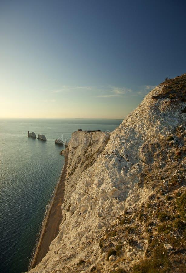 A ilha das agulhas do Wight imagem de stock