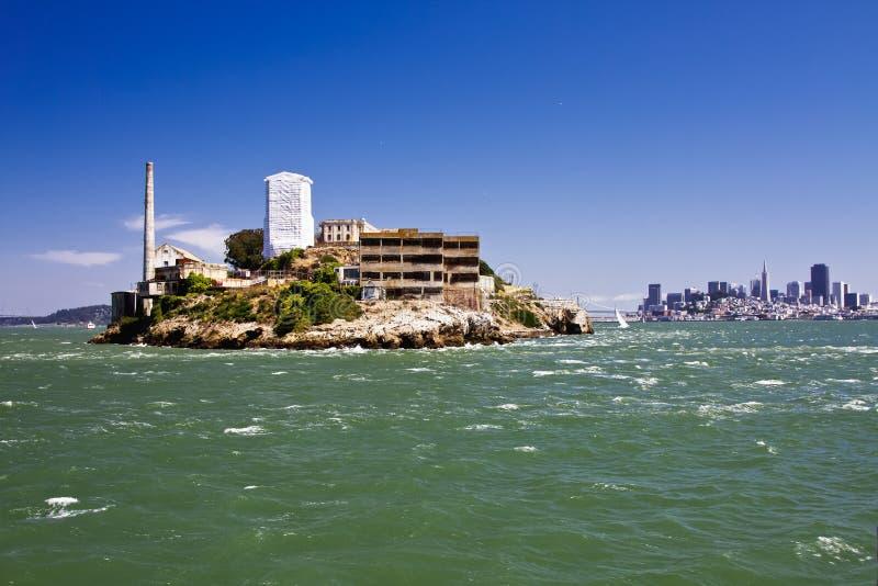 Ilha de Alcatraz foto de stock