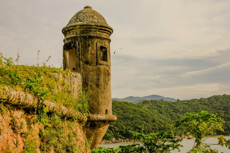 Ilha de Anhatomirim. Nature wonderful  island acquitted old royalty free stock photography