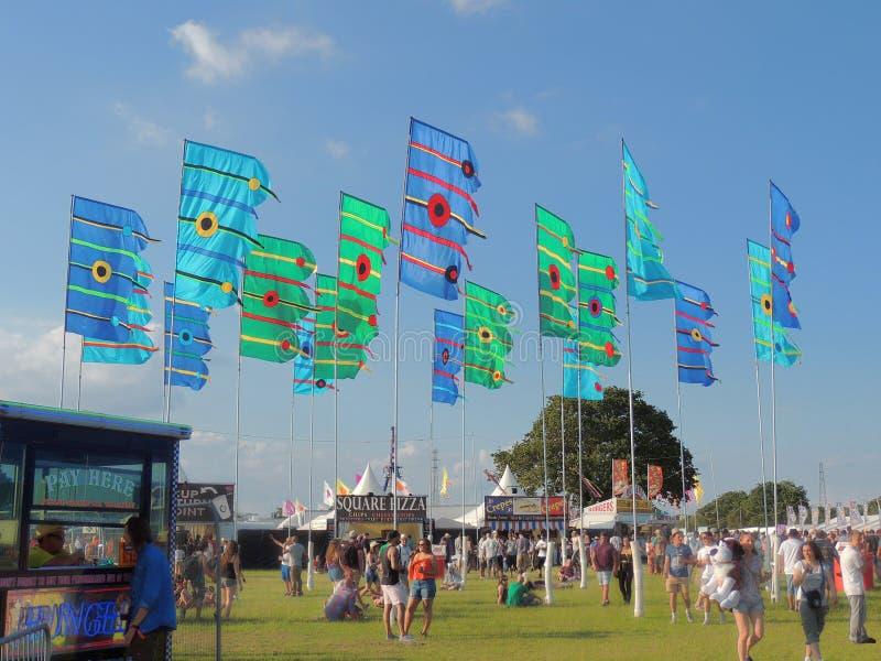 Ilha de bandeiras do festival do Wight fotos de stock royalty free