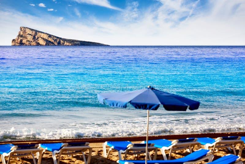 Ilha de Benidorm em Alicante mediterrânea fotografia de stock