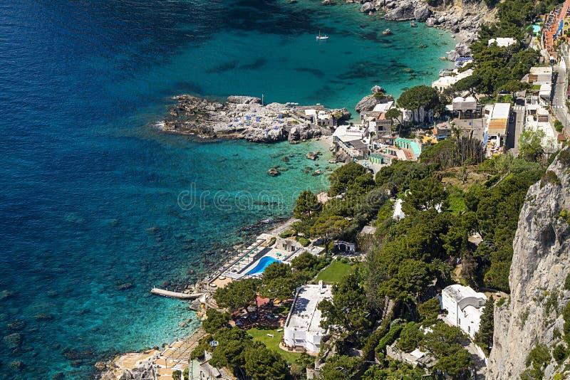 Ilha de Capri imagens de stock royalty free