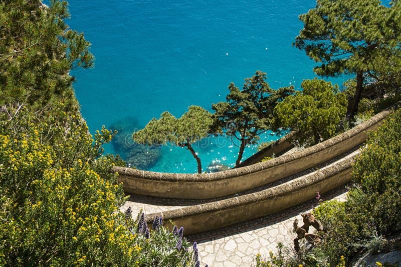 Ilha de Capri, através de Krupp imagem de stock