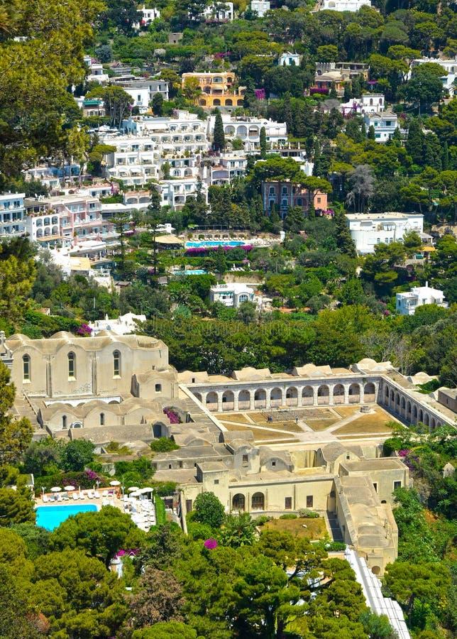Ilha de Capri, destino turístico famoso foto de stock
