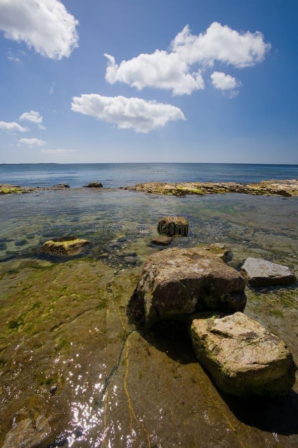 Ilha de Castletown da linha costeira do homem fotografia de stock royalty free