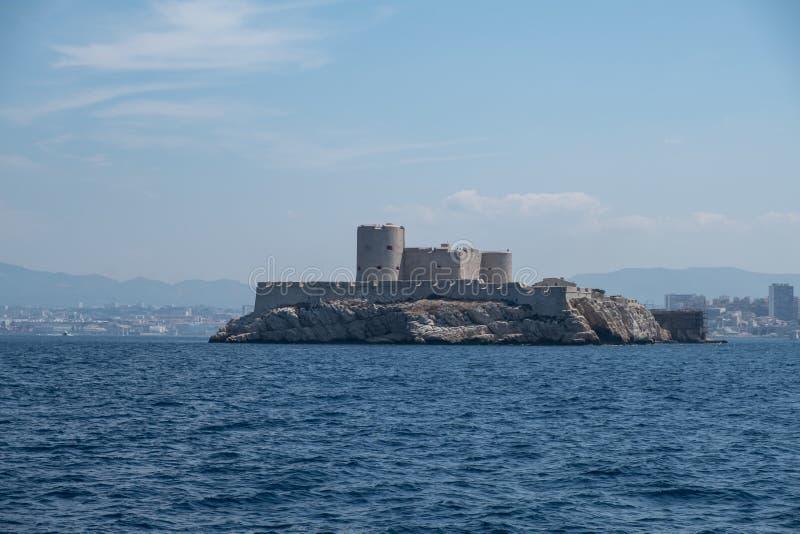 A ilha de Chateau d'If, Marselha, França imagens de stock royalty free