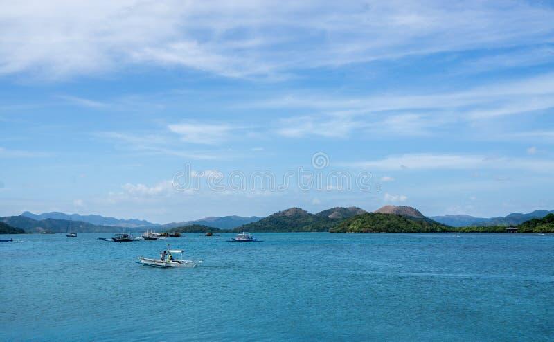 Ilha de Coron, as Filipinas foto de stock