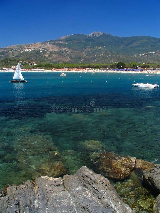 A Ilha de Elba foto de stock