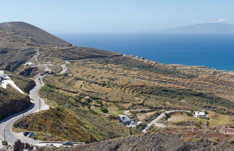 Ilha de Grécia Santorini em Cyclades fotos de stock royalty free