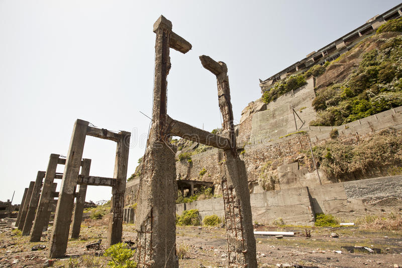 Ilha de Hashima imagem de stock