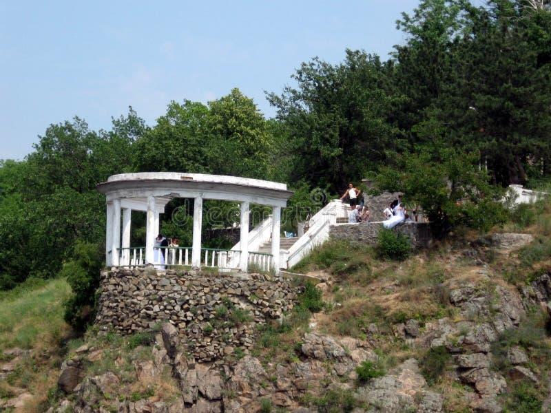 Ilha de Khortytsya zaporozhye ucrânia fotos de stock royalty free