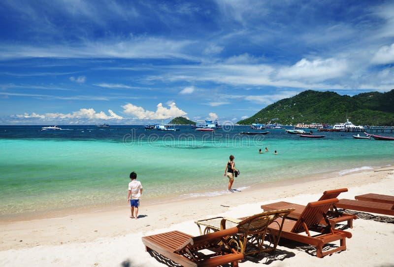Ilha de Koh Tao, Tailândia foto de stock