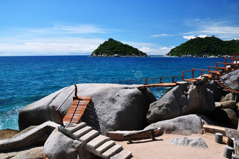 Ilha de Koh Tao, Tailândia imagem de stock