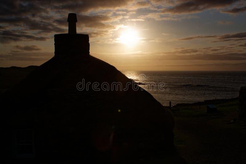 Ilha de Lewis Cottage imagem de stock royalty free