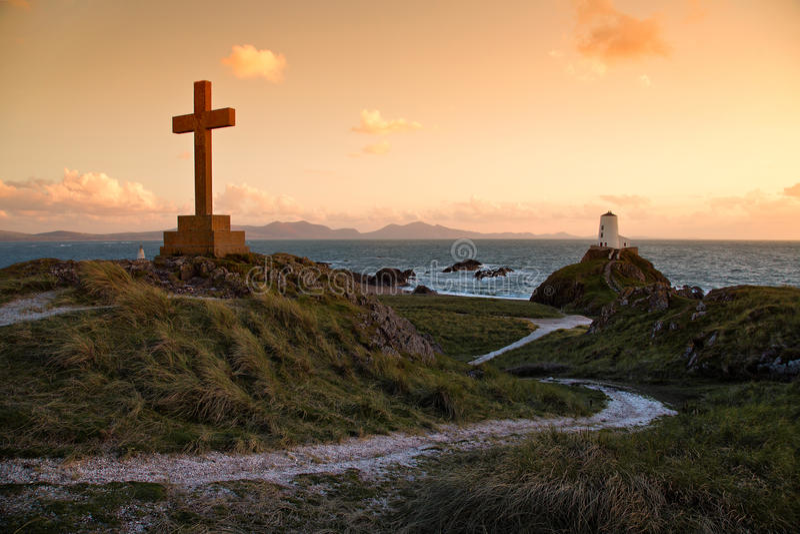 Ilha de Llanddwyn imagens de stock