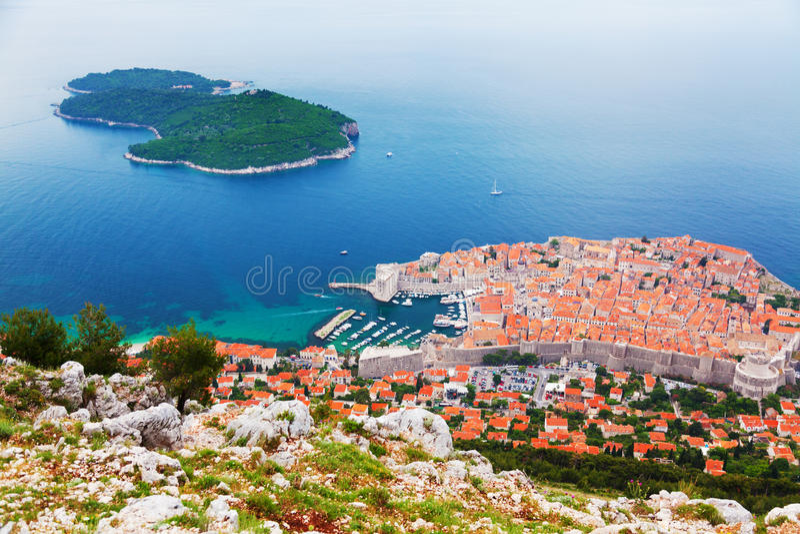 Ilha de Lokrum, Dubrovnik imagens de stock royalty free