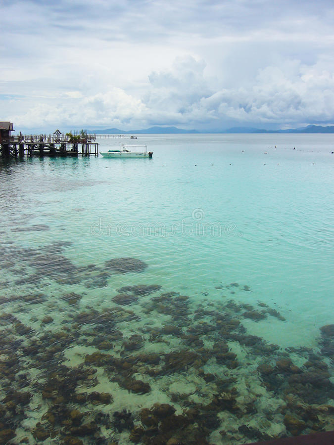 Ilha de Mabul fotografia de stock royalty free