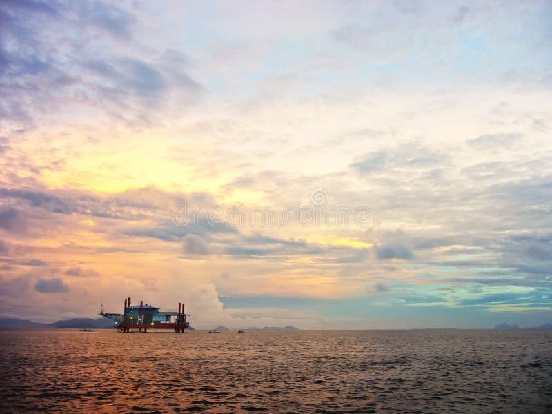 Ilha de Mabul do nascer do sol fotografia de stock