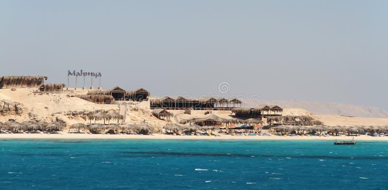 Ilha de Mahmya no Mar Vermelho, Egito fotos de stock