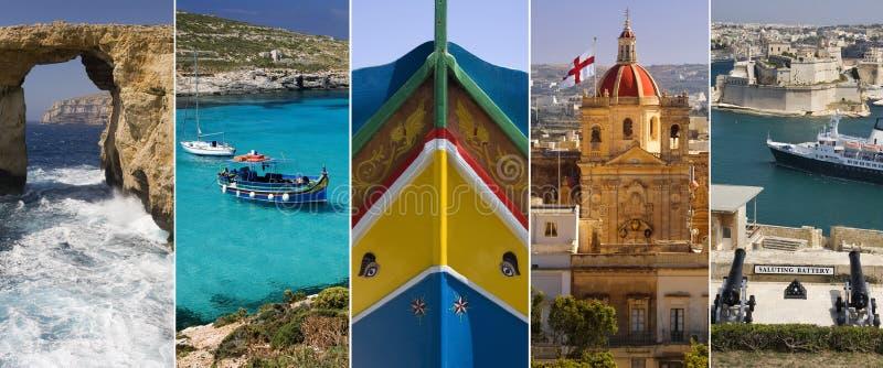 A ilha de Malta imagens de stock