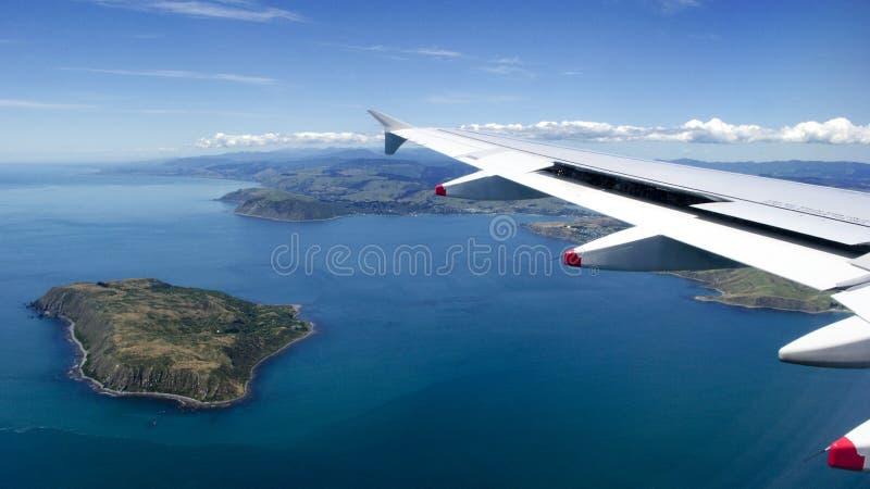 Ilha de Mana do indicador plano sobre Nova Zelândia imagens de stock royalty free