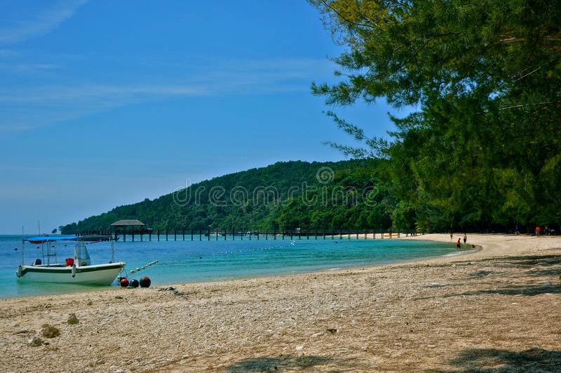 Ilha de Manukan foto de stock