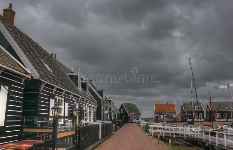 A ilha de Marken, Holanda, Países Baixos imagens de stock royalty free